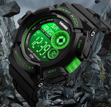 2019 SKMEI ยี่ห้อผู้ชายกีฬานาฬิกากันน้ำแฟชั่นนาฬิกาทหารกันกระแทกผู้ชายหรูหรานาฬิกาดิจิตอล LED นาฬิกา