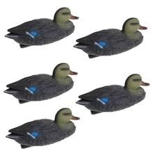 5pcs PE Portable Mallard Duck Decoys Duck Hunting Decoy Hunting Garden Yard Pool Decors Ornaments Hunting Gear Garden Yard Scare xilei wholesale spain hunting duck decoys remote control 6v mallard drake decoy plastic bird decoy with magnet spinning wings