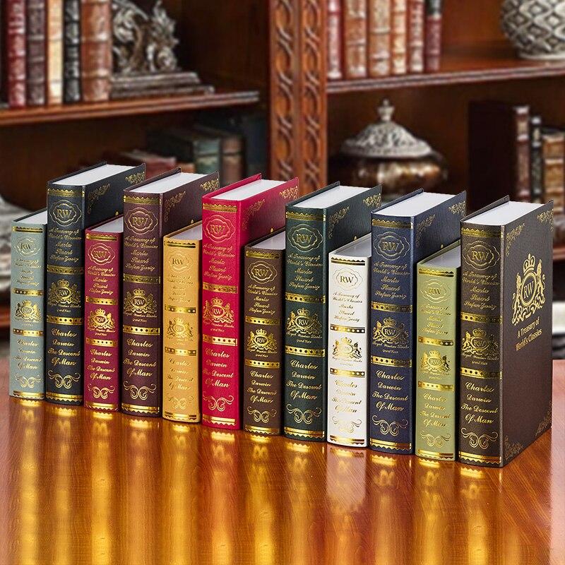 6 Stks/set Vintage Stijl Nep Boeken Model Voor Fotografie Achtergrond Accessoires Props Bar Thuis Boekenkast Antieke Sierlijke Display Modieuze Patronen