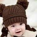 Venta caliente 3 M-2 T bebé de navidad sombreros niños sombreros de invierno del bebé muts tapas para niñas niños crochet recién nacido foto atrezzo sombrero hecho punto lindo