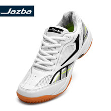 Jazba GECKOR 1.0 Badminton Shoe Men Professional Indoor Sports Training Sneakers Antiskid Rubber Breathable Lace Athlete Shoes li ning women s professional cushion badminton training shoes breathable sneakers lining double jacquard sports shoes aytm078