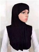 LJ6 модальный Двухсекционный мусульманский хиджаб шарф модный хиджаб оголовье шарф - Цвет: LJ60009