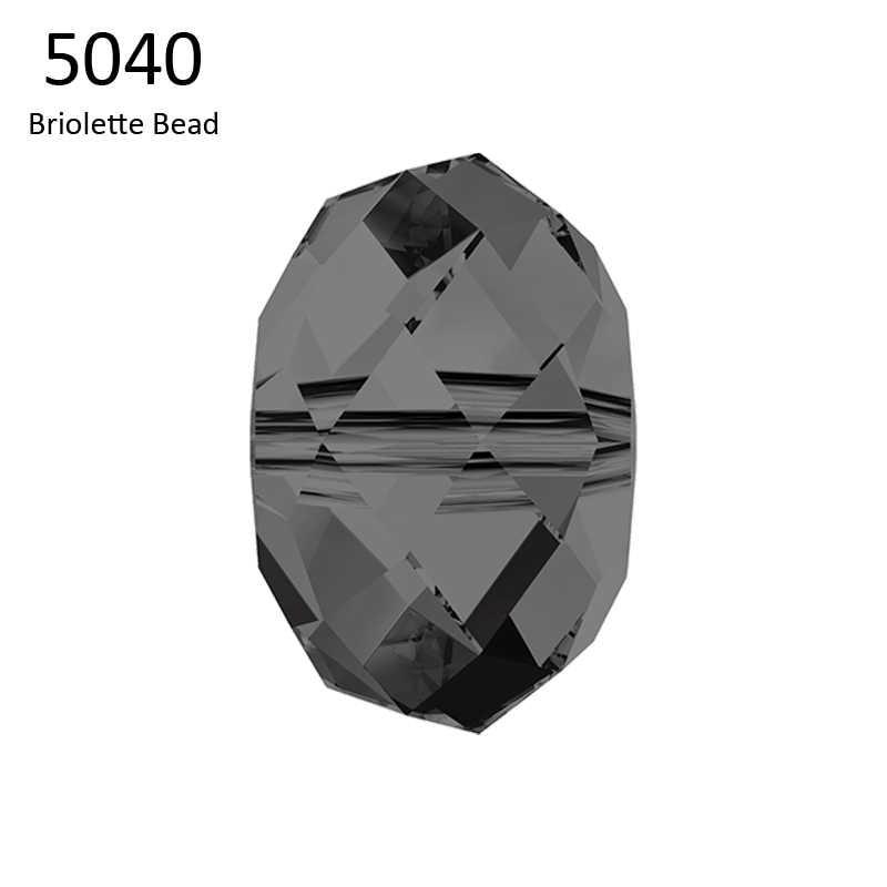 (1 חתיכה) 100% 4mm 6mm 8mm 5040 Briolette חרוזים קריסטל סברובסקי תוצרת אוסטריה loose חרוזים DIY תכשיטי ביצוע