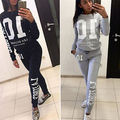 2Pcs Women Tracksuit Hoodies Pullover Sweatshirt Pants Trousers Set Wear coat pants autumn long sleeve clothes