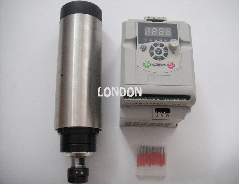 CNC spindle kit ER20 2.2KW air cooling spindle + 1 pieces 2.2KW VFD inverter+CNC engraving bits cnc spindle kit er11 air cooling 1 5kw spindle cnc engraving bits