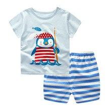 Funfeliz Baby Boy Kleidung Sommer Jungen Sport Anzüge Casual Kurzarm 2 STÜCKE T-shirt Shorts Anzug Kleinkind Jungen Kleidung set