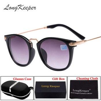 LongKeeper Terminou Óculos de Proteção Óculos de Sol 2 em 1 Moda Miopia Quadro lente de 100-400 Graus Óculos De Sol-1-1.5-2-2.5-3-3.5-4