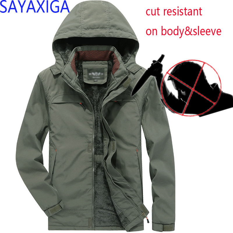 Back To Search Resultsmen's Clothing New Design Self Defense Cut Resistant Anti Stab Clothing Anti Sharp Police Casual Defense Jacket Coat Hooded Outwear Stealth Top Jackets & Coats
