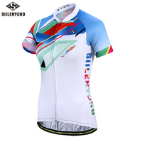SIILENYOND Onawa Short Sleeve Summer Women MTB Bike Clothing Breathable Bicycle Clothes Ropa Ciclismo Girls UV Cycling Jersey
