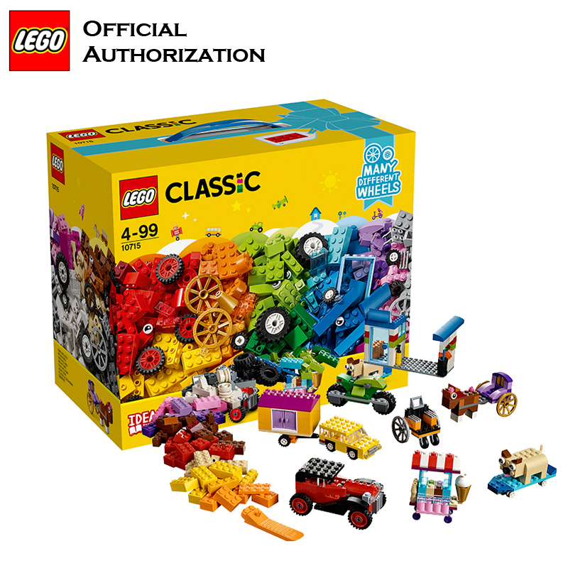 Newest LEGO Funny Building Blocks Toys With Wheels Model Building Toys Colorful Accessories Lego Brinquedos For Birthday's Gift lego architecture series city building blocks toys paris louvre building toys a tourist souvenir for lego travel toys brinquedos