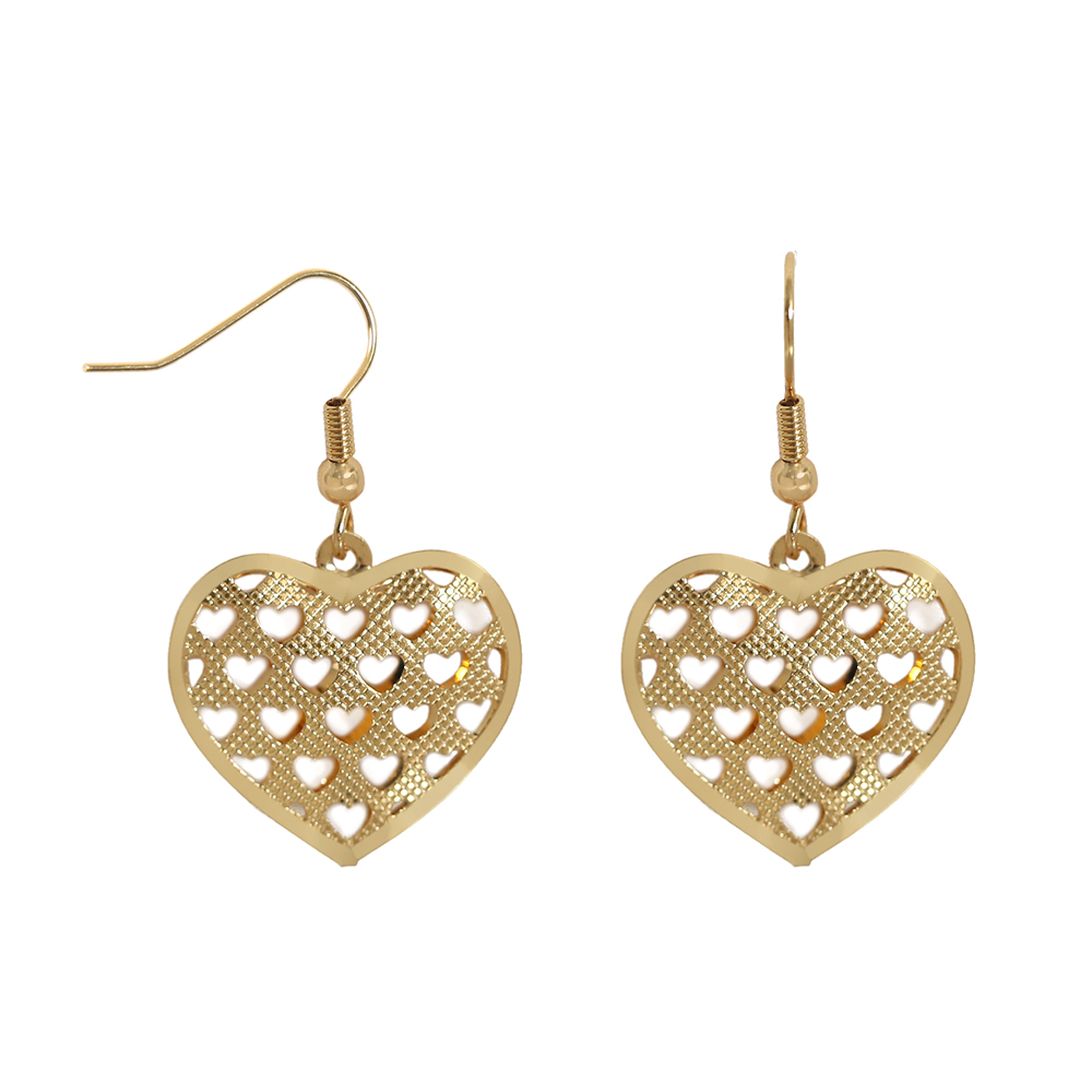 TL Mutiple Heart Earrings for Women Charming Stainless Steel Gold Earrings Simple Design Jewelry Wedding Earrings For Female
