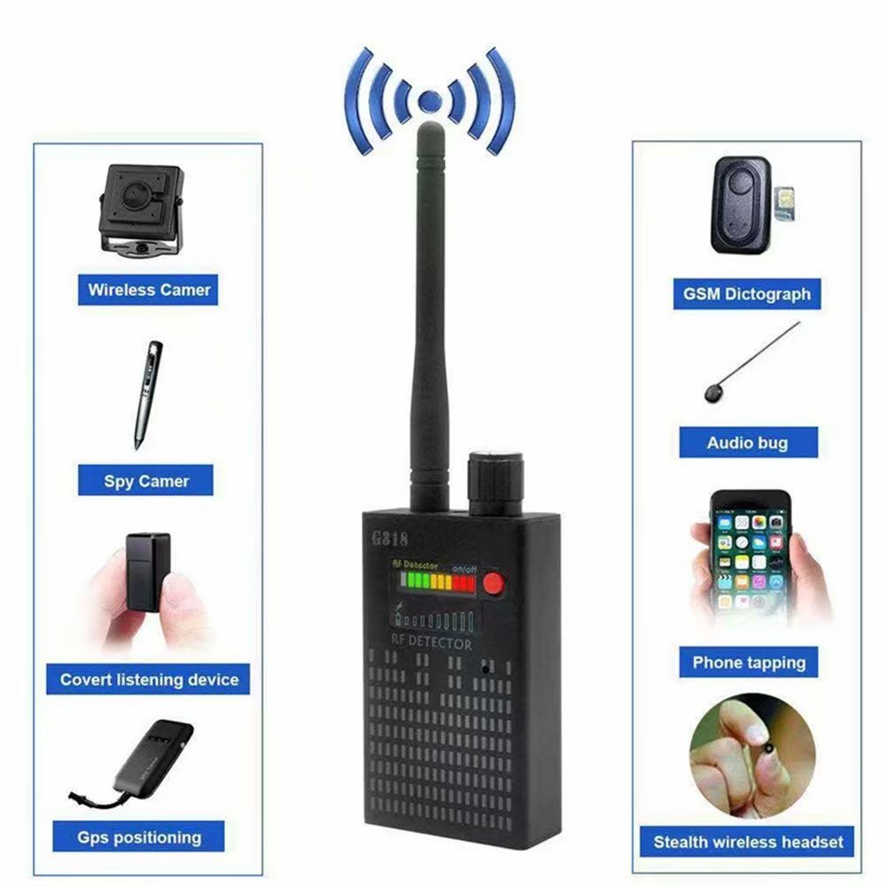G318 Wireless Signal Bug Detector EU Anti Candid Camera GPS Location Finder Tracker Frequency Scanner