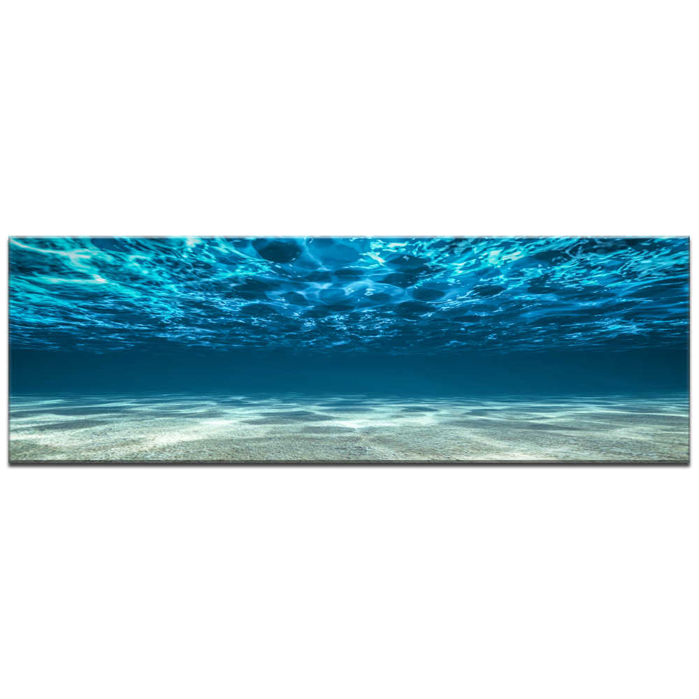 Blue Ocean Sea Canvas Wall Art Print Decor Poster Artworks For Home Pictures Seaview Under Sea Painting On Canvas for gift