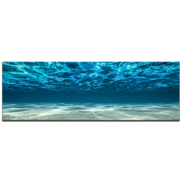 Blue Ocean Sea Canvas Wall Art Print Decor Poster Artworks For Home Pictures  Seaview Under Sea