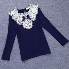 Kids Girls Blouse Embroider Long-Sleeve Clothes