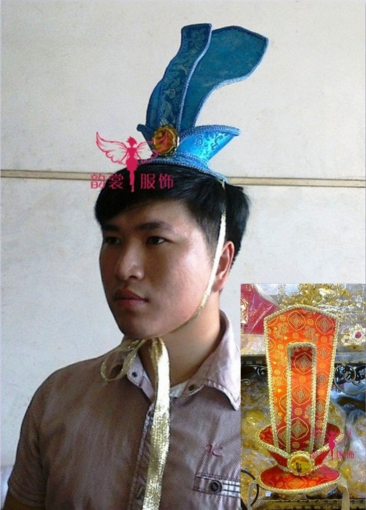 Handmade male costume hair accessory cosplay hanfu crownpiece 2 colors hanfu groom hat hair tiaras