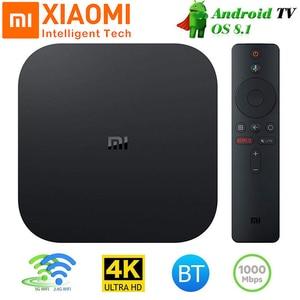 ТВ-приставка Xiaomi Mi Box S, глобальная ТВ-приставка 4K, четырехъядерный процессор, 64 бит, Mali-450, 1000 Мбит/с, Android 8,1, ТВ-приставка 2 ГБ + 8 Гб, 2,4G/5,8G, Wi-Fi, BT4.2