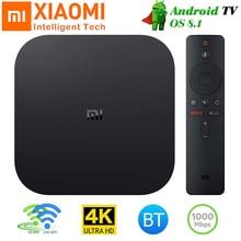 Caixa de tv xiaomi mi box s 4k global, Cortex A53, quad core 64, mali 450, 1000mbp, android 8.1 caixa de tv 2gb + 8gb 2.4g/5.8g wifi bt4.2