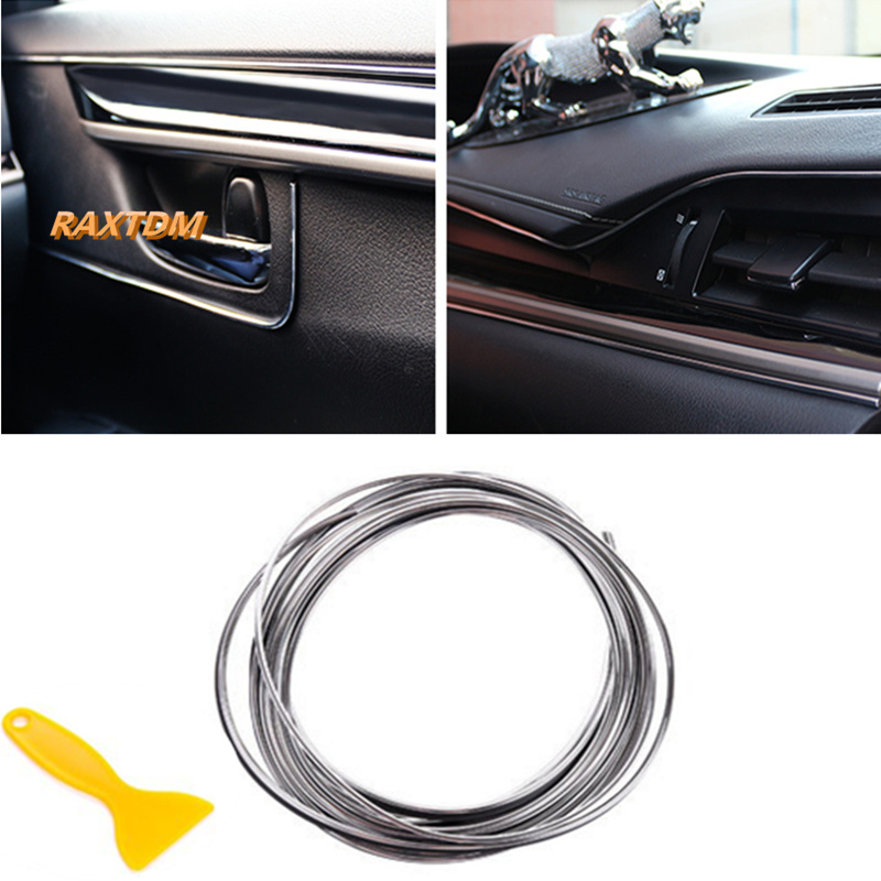 5m car interior exterior mouldings trim decorative strip line for volkswagen polo tiguan passat. Black Bedroom Furniture Sets. Home Design Ideas