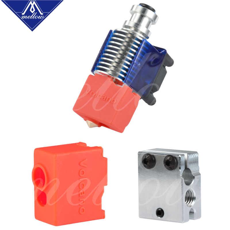 Mellow suporte estampado vulcânico NF-V6, suporte de saída de cabeça j para controle remoto de 12v/24v, com ventoinha de refrigeração para e3d v6 vulcânica