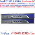 Firewall server Router Barebone 4*82583V LAN support ROS PFSense Panabit Wayos Monowall Radius hi-spider