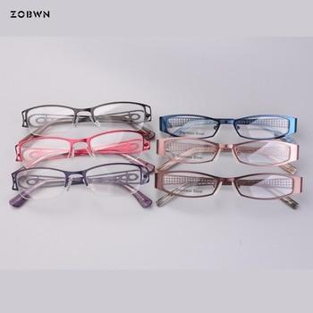 Classic girls optical glasses for myopia reading eyewear Personality eyeglasses Clear Lens Men Eyeglasses Women Half rim Eyewear фото