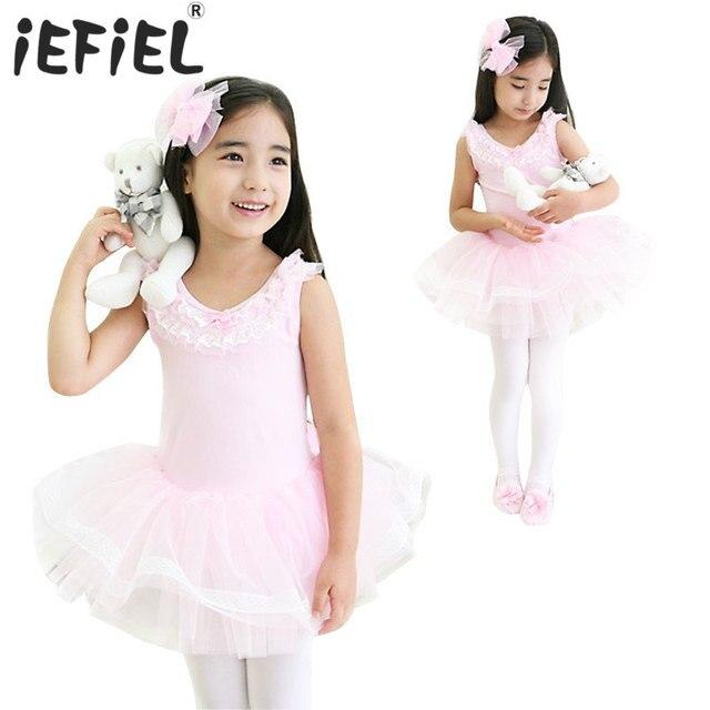 d46995574 2017 New Children Girls Flower Ballet Dance Tutu Dress Leotard Dress ...