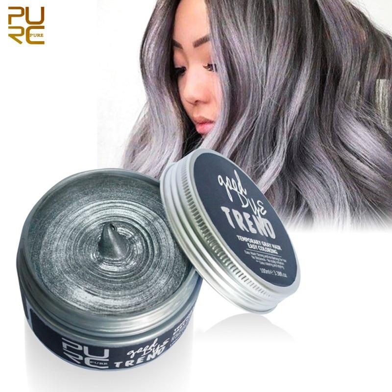 Aliexpress.com : Buy RURC Color Hair Dye Disposable Hair Wax White Purple Red Blue Grey Green
