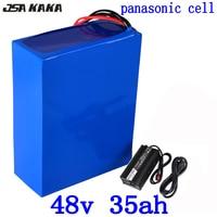 48 V lithium batterij 48 v 35ah elektrische fiets batterij 48 V 34AH lithium ion batterij gebruik panasonic cel met 50A BMS + 54.6 V 5A charger