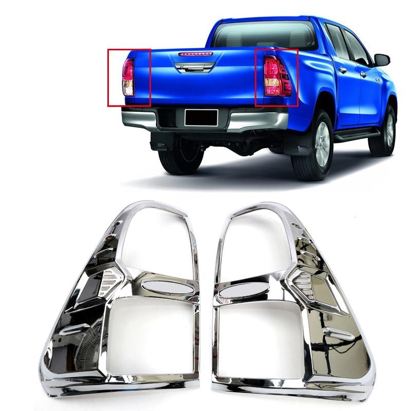 Convient pour Toyota Hilux Revo 4 portes 2016 2017 2018 accessoires de voiture garniture de paupière de phare avant et arrière garniture de couvercle de lampe 4 pièces - 5
