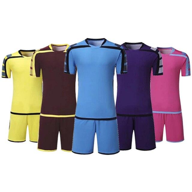 95db590a92 US $21.35 39% OFF|Iceland Jersey 2018 Soccer Jerseys Set New Men's  Sportswear Kids Football Kit Children Training Football Suit Match Dress  -in ...
