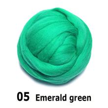 Darmowa wysyłka handmade filc wełniany do filcowania 50g szmaragdowo zielony idealny w filcu 05 # tanie i dobre opinie Inne włókna 100 wełny Merino NoEnName_Null wool felt