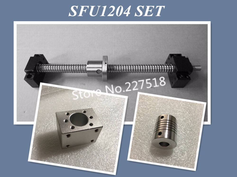 все цены на SFU1204 set: SFU1204 rolled ball screw C7 with end machined + 1204 ball nut + nut housing+BK/BF10 end support + coupler RM1204 онлайн
