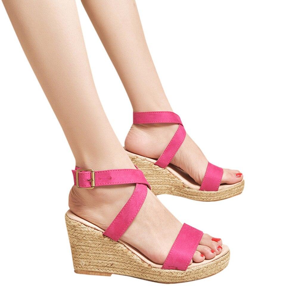 Rouge Bleu Sandales Plateforme Mujer Semelles Femmes D'été Compensés uK5FJcTl13