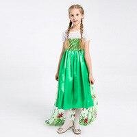 Wedding Elsa Anna Dress Girls Costume Cute Party Princess Cosplay Girl Dresses Children's Christmas Halloween Set Clothes