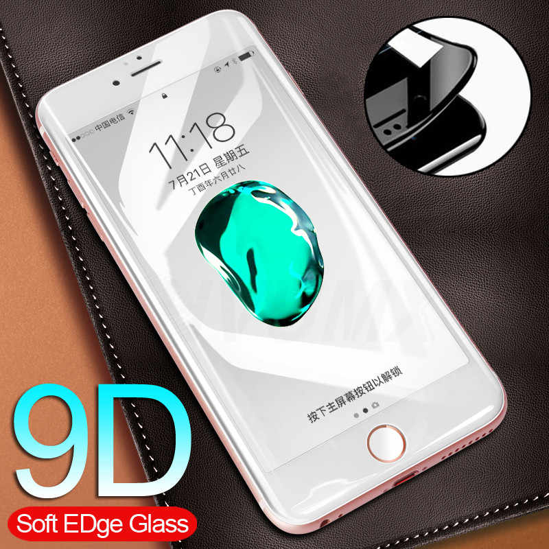 9D Full Protective Glass On The For iPhone 6 7 6S 8 Plus X Tempered Screen Protector Glass For iPhone XS Max XR 6s 7 Plus Film