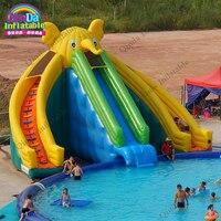Portable elephant water park inflatable , amusement park games , kids inflatable park for fun