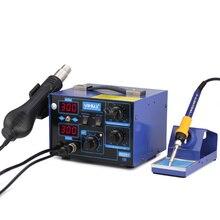цена на 862D+ SMD Soldering Iron Hot Air Rework Heat Gun Solder Station For SMT SMD Welding Repair
