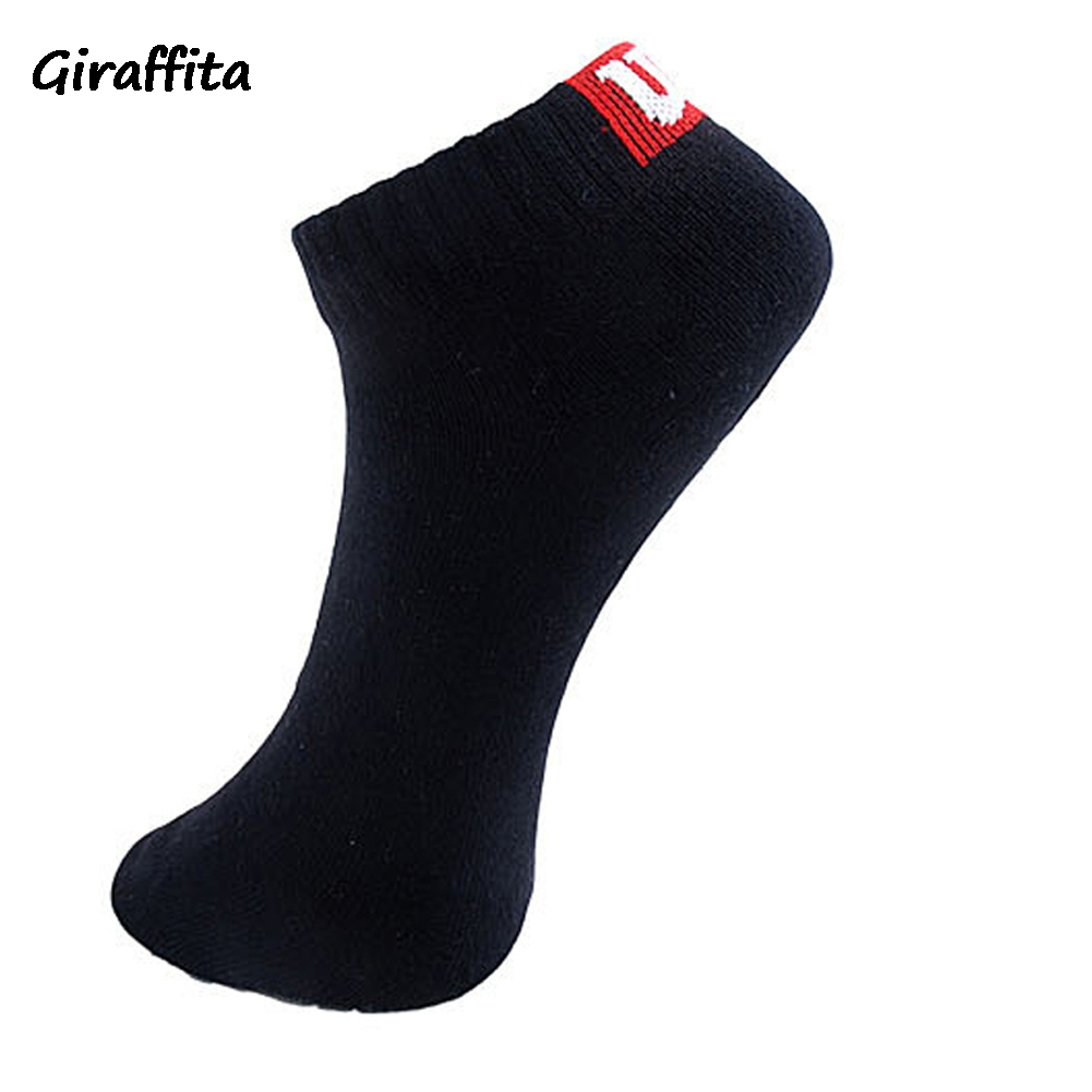 Giraffita Casual Men Socks Cotton Boat Socks Towel Bottom Socks Short Tube Concise Fashion Design Socks