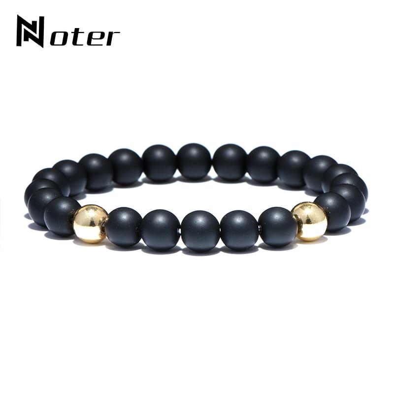 Noter Minimalist Natural Stone Beads Bracelet Budha To Buddha Yoga Hand Braslet For Men Women Jewelry Bijoux bileklik