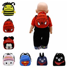 Doll Accessories 7 Styles Cute Backpack Schoolbag for 43cm Baby Doll and 18 inch Girl Doll Birthday Gift B-4(China)