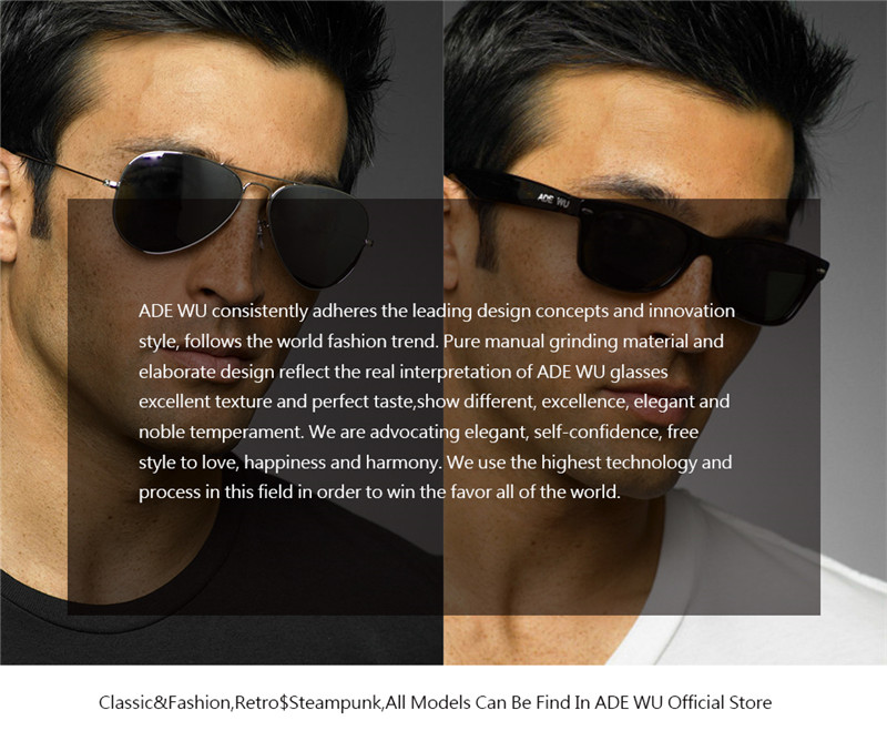 06abe0aa6077 ADE WU New Famous Brand Designer Pilot Men Women Sunglasses Wrap Metal  Double Bridge Round Sunglasses Male Female Aviation Shade