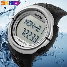 Podómetro Contador de Calorías Monitor Del Ritmo cardíaco Reloj Digital de Fitness Para Mujeres de Los Hombres Al Aire Libre Relojes Skmei Relojes Deportivos