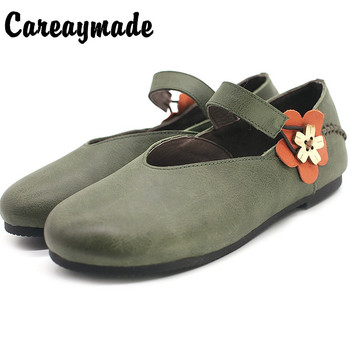 Careaymade-Return to the ancients create a new style of Sunnr flower shallow-mouthed single shoe, women's literature art shoes