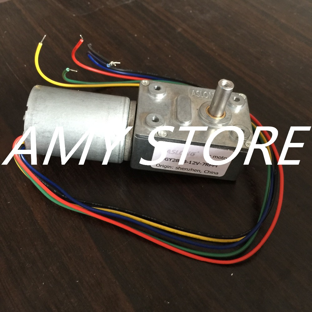 24V 12V Rectangle Worm Gear Box 5 Wires Electric DC Brushless Geared Motor JGY-2838 210/110/53/40/32/26/25/20/16/13/12/8/7/4RPM