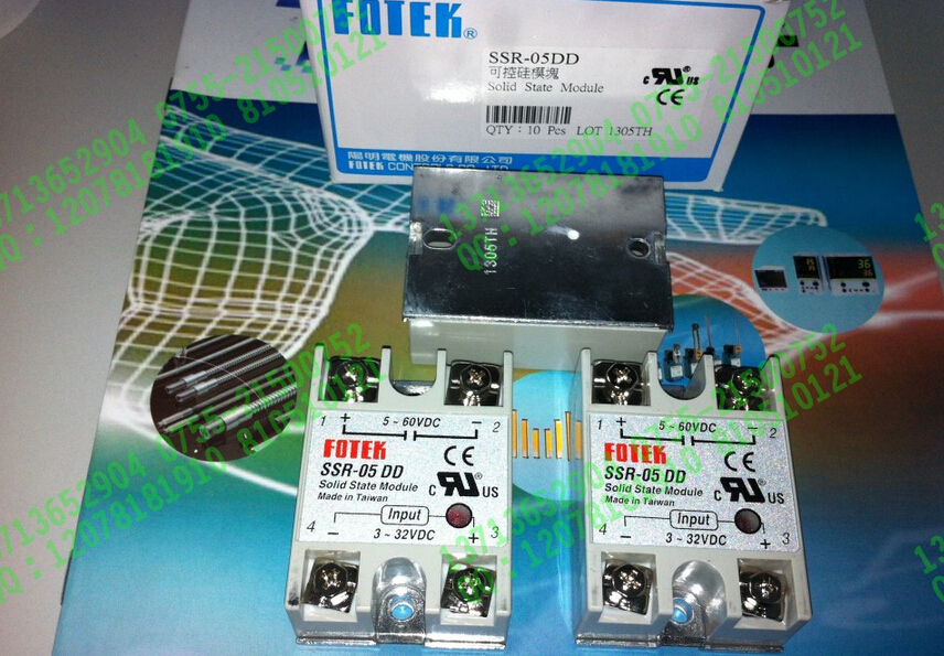 100% Original Authentic Taiwan's Yangming FOTEK solid state relay / thyristor modules SSR-05DD brand new original japan niec pdh15116 indah 150a 1600v thyristor modules