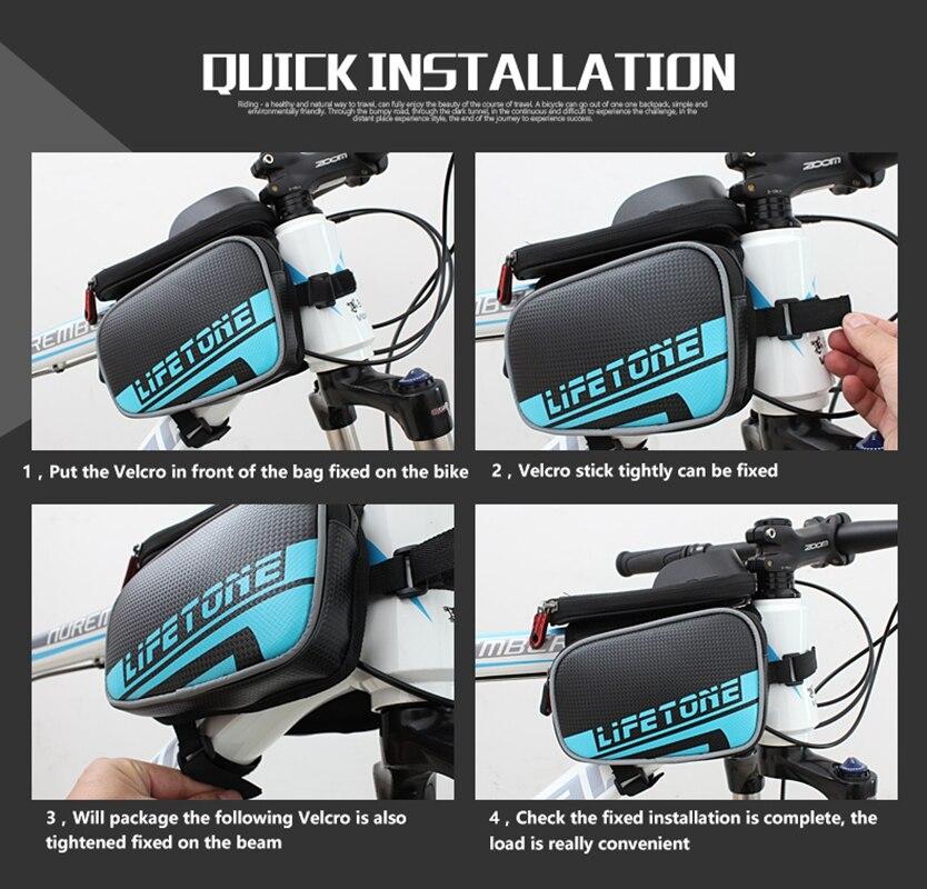 Neue Radfahren Bike Fahrrad Taschen Fahrrad Rahmen Vorne Rohr ...