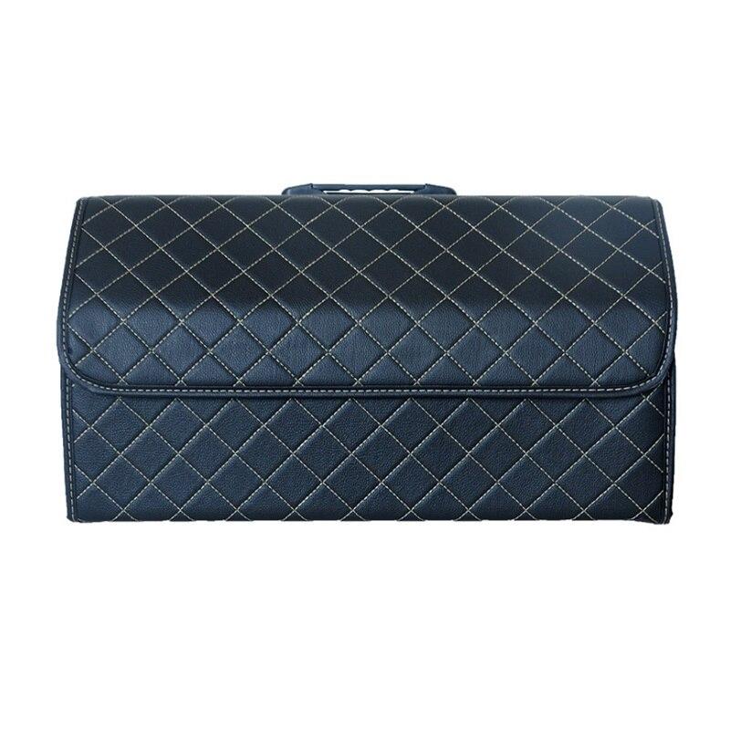 Car Trunk Organizer Box Storage Bag Auto Trash Tool Bag PU Leather Folding Large Cargo Storage