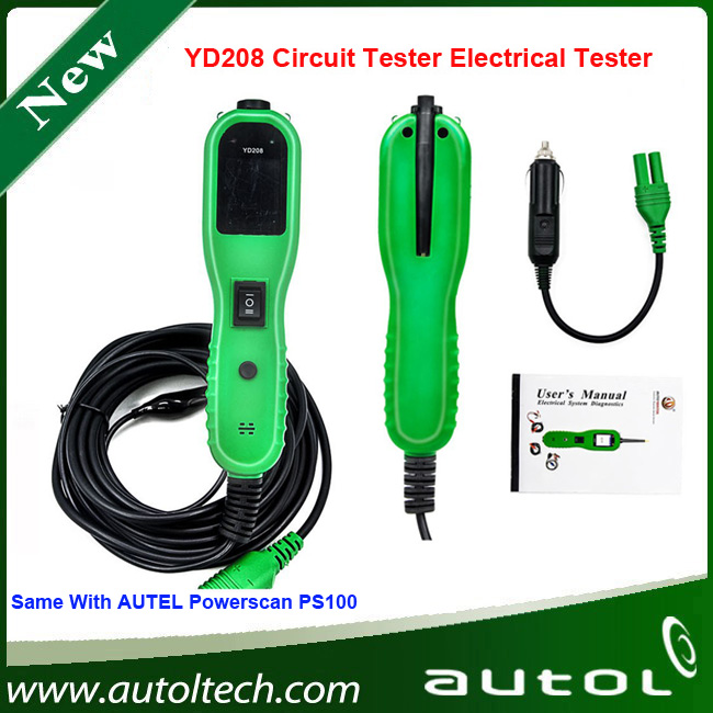 ФОТО YD 208 Electrical System Circuit Tester YD208 Electrical System Diagnostic Tool Instead of PowerScan PS100 DHL Free Shipping