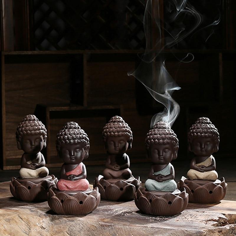 Buddha Incense Burner Creative Buddhist Censer Home Fragrance Incense Holder for Home Decor Living Room Office Teahouse